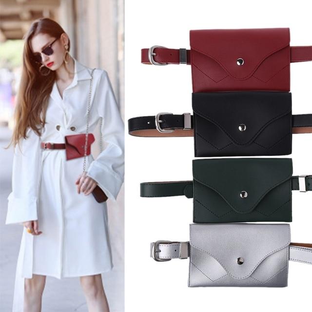 THINKTHENDO Fashion New Women Girls Waist Bag Fanny Pack Phone Key  Adjustable Mini Belt Bag Cards Purse 93d083c7039b