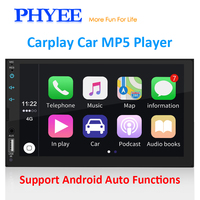 2 Din Apple Carplay Car Radio Bluetooth Android Auto 7 Touch Screen Video MP5 Player USB TF ISO Stereo System Headunit PHYEE X2