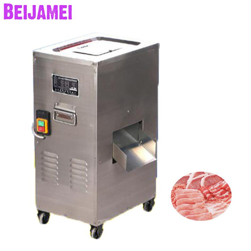 BEIJAMEI Stainless Steel Commercial Fresh Meat Slicer/Shredder/Cutting Machine Electric Meat Slicing Machine For Sale