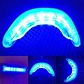 Novos Dentes Branqueamento de Luz Fria Da Lâmpada 16LED com Triplo Cabo Adaptador de Interface de Limpeza Dos Dentes Higiene Bucal Transporte da gota