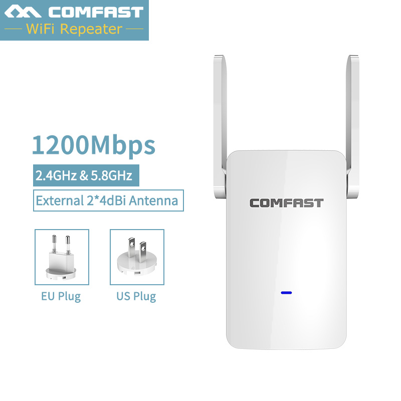 CF-WR753AC Wifi Repeater Router AP Access Point Mode Repeater WiFi Dual Band 2.4/5G Wireless Router External antenna Repeater 2pcs 1750m gigabit ac wifi router 2 4ghz 5g dual band wifi repeater access point ap router cf e380ac wireless ceiling ap openwrt