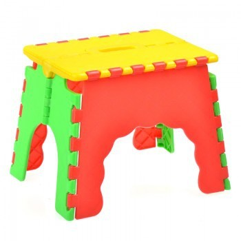 3 Random Colors Plastic Folding Stool Thicken Step Ottoman Portable Fishing Stools for K ...