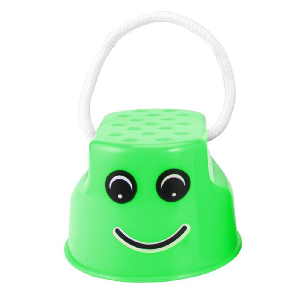 Funny Plastic Children Kids Outdoor Fun Walk Stilt Jump Smile Face Pattern Sports Balance Training Toy Best Gift