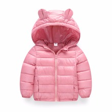 Baby Girls Jacket 2018 Autumn Winter Jacket For Girls Coat Kids Warm Hooded Outerwear Coat For Boys Jacket Coat Children Clothes(China)