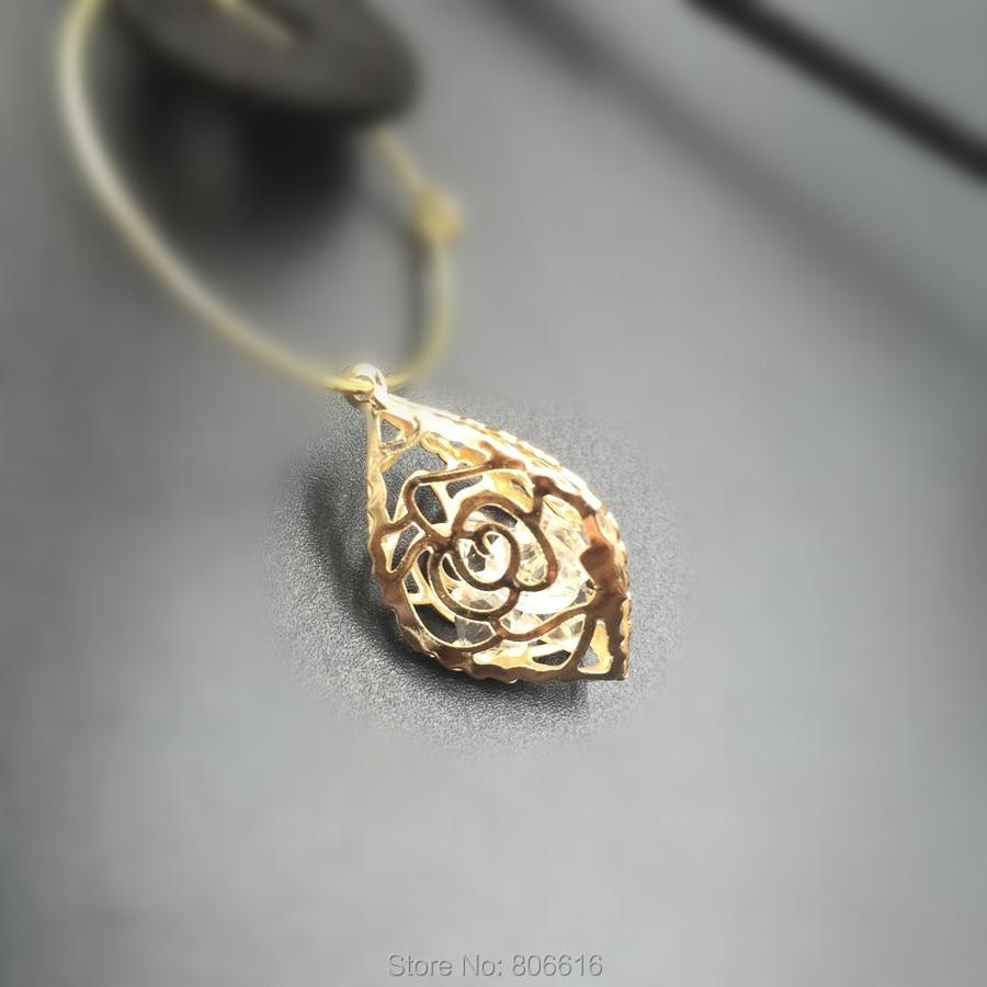 c6a31f630d6 27 14 мм KC золото Цвет Сплав + Стекло со стразами внутренняя Jewellery  Подвески ювелирные изделия талисманы