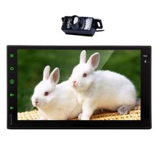 7 Inch Android 4.4.4 Quad Core Double Din HD In Dash Car Stereo Capacitive Touch Screen GPS Navigation Without DVD Player Suppor