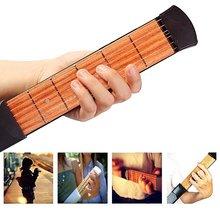 ZONAEL Hot S Portable Pocket Acoustic Guitar Practice Tool Guitar Parts Gadget Chord Trainer 6 String 6 Fret Finger Exerciser