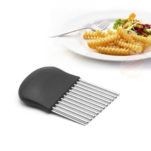 Wavy Crinkle Cutting Tool, Salad Chopping Knife and Vegetable French Fry Slicer, Steel Knives for kitchen tools