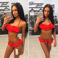 2017 Summer New Big Size Sexy Women Bikini European Hot Sale Two-piece Swimwear Plus Size Ruffles Ladies Biquini Set 62631