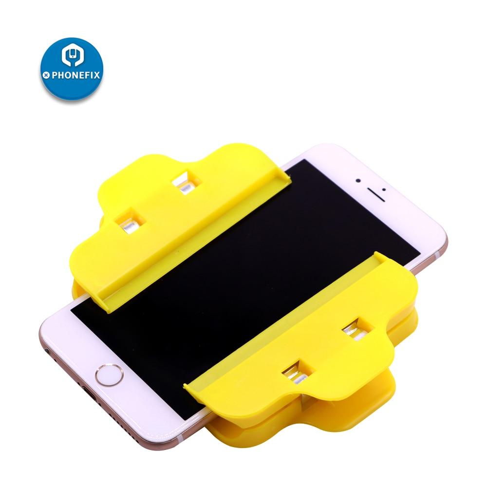 PHONEFIX 2 Pcs Universal Plastic Clamp Mobile Phone Repair Holder For IPhone IPad LED Screen Fasten Fixed Repair Tool
