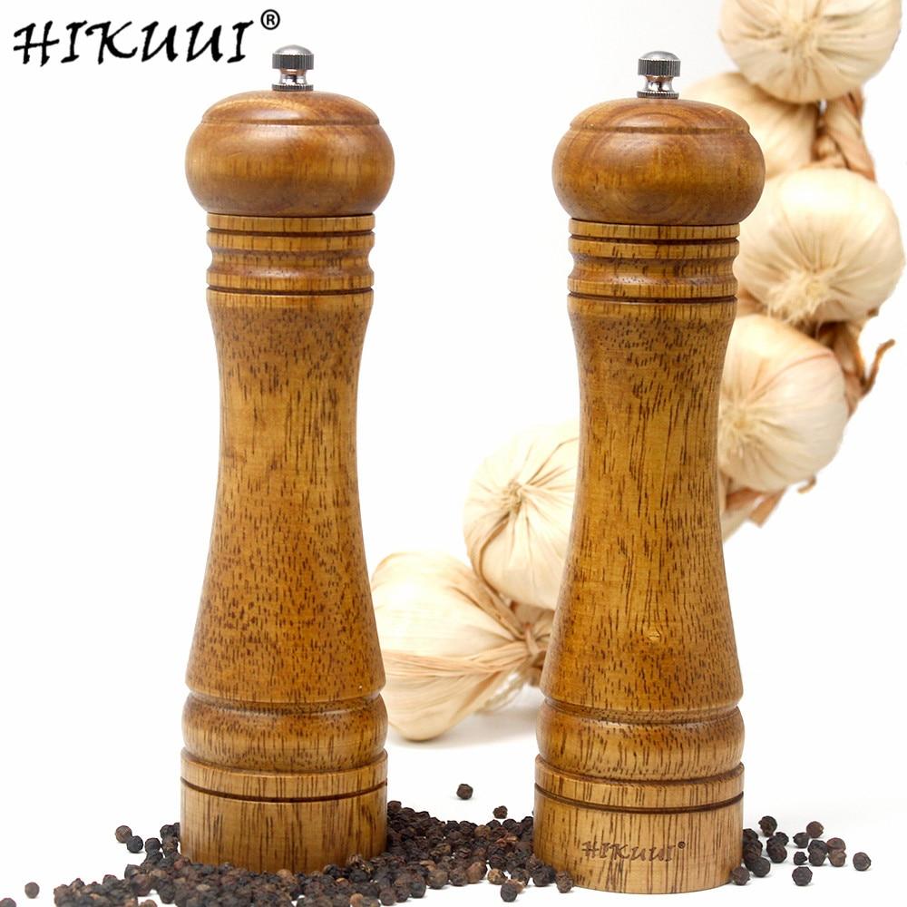 64709 руб 41 скидка2 шт деревянная мельница для соли и перца три различных комбинации соли и мельница для перца ручная измельчающие кухонные