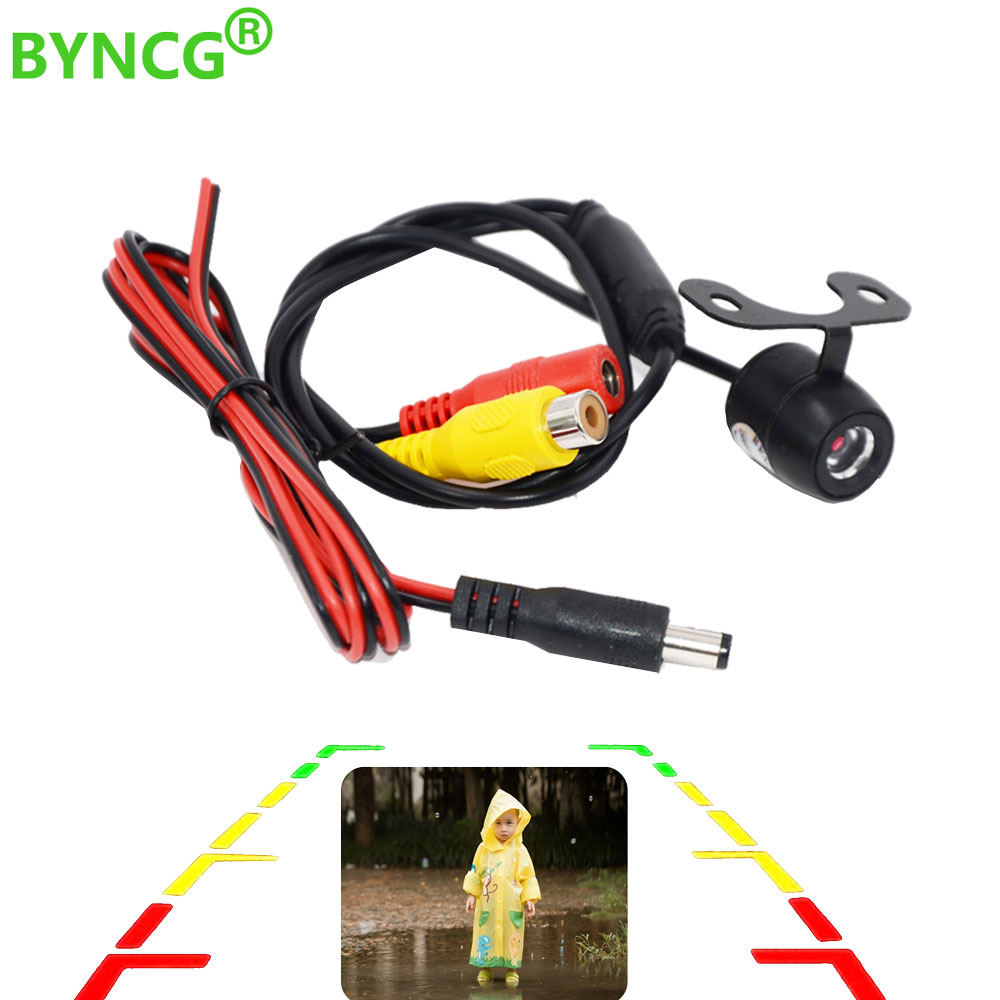 BYNCG Auto CCD HD Car Rear View Camera Rearview Backup Reverse Camera with Wide Angle Parking Assistance Waterproof Night Vision