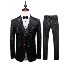 Costume Homme 2019 Men Latest Coat Pants Designs Black Formal Party Dress Tuxedo Slim Fit Double Breasted Suits For Wedding