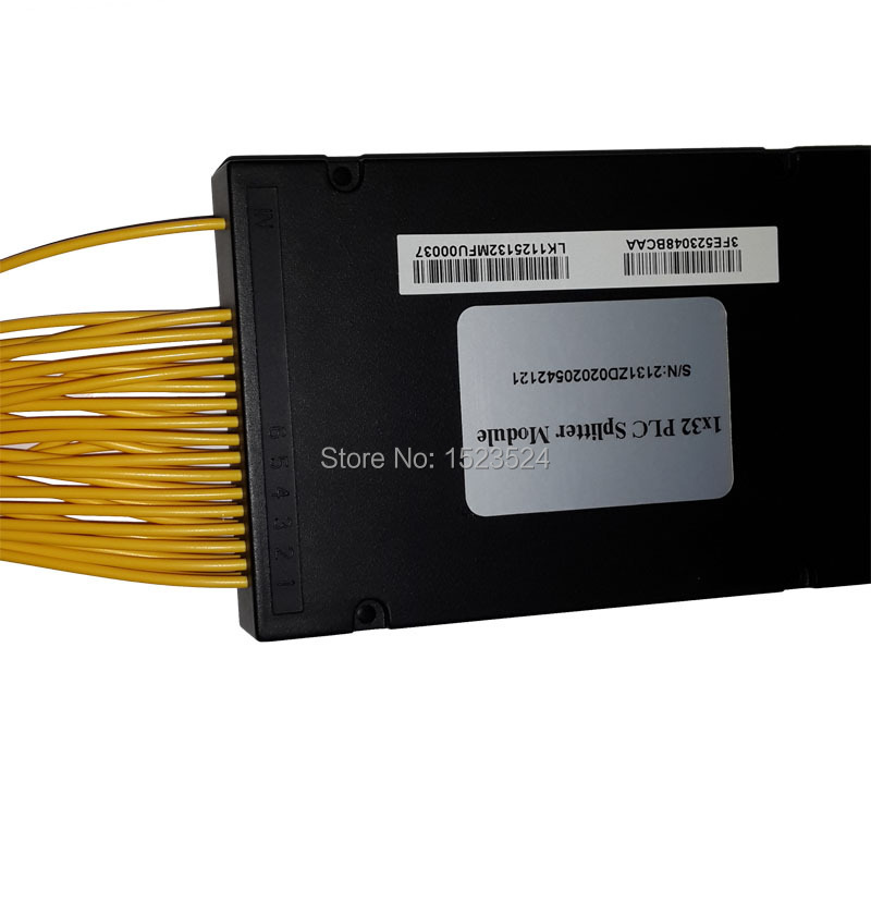 Free Shipping GPON EPON 2.0mm 1.2M 1x32 ABS Box 1 32 FC/UPC 32 Ports Fiber Optical PLC Splitter