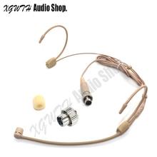 Двойной крюк наушники на головке головной однонаправленный кардиоидный микрофон радио разъем для микрофона мини XLR Сделано в Китае 4PIN замок Для Mipro
