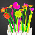 6pcs/1 lot Fashion Hot creative stationery Bloom Sweet Lucky Flora flowers Pen design Ballpoint pen Stationery