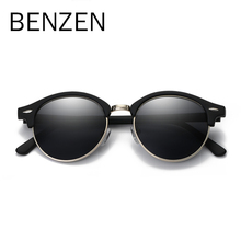 BENZEN Polarized Sunglasses Men Brand Designer Round Women S