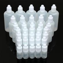 1pc 5/10/15/20/30/50/100ml Empty Plastic Squeezable Dropper Bottles Eye Liquid Dropper Sample Eyes Drop Refillable Bottle