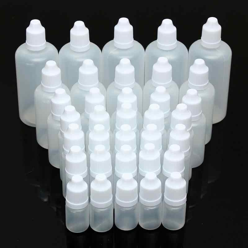 1pc 5/10/15/20/30/50/100ml Vazio Plástico Squeezable Dropper garrafas Eye Dropper Líquido Amostra Olhos Queda Garrafa Reutilizável