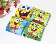 2 Pair / Lot Sponge Pattern Kids Socks Cartoon Children Cotton Boys Girls Socks 15.5CM ~ 18.5CM Baby Socks Birthday Gift
