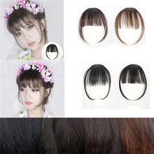 FAST sending 2018 1pc Pretty Girls Clip On Clip In Front Hair Bang Fringe Hair Extension Piece Thin dropshipping(China)