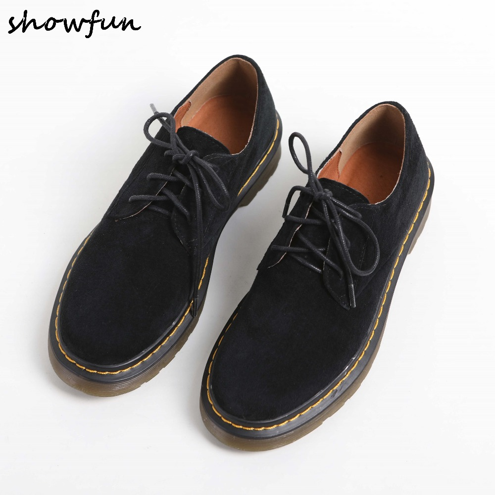 Size 34-40 Women's Genuine Suede Leather Lace-up Flats Oxfords Brand Designer Leisure Espadrilles Female Comfort Footwear Shoes
