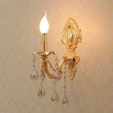 Бра свечи Из светодиодов стены бра хрустальные светильники домашние из светодиодов настенные светильники современной гостиной европейский свечи кристалл настенные светильники бра спальня свет Бра хрустальные