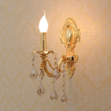 Gold plated Zinc Alloy wall lights modern lighting contemporary lamps hotel sconces bedroom yellow color