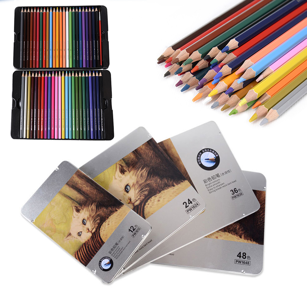 Fine Art Colored Pencils water soluble 72 Colors Drawing Sketches Colour Pencil School Supplies Secret Garde Pencil iron box marco raffine fine art colored pencils 24 36 48 colors drawing sketches mitsubishi colour pencil for school supplies