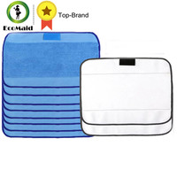 Microfiber 8pcs Wet 2pcs Dry Dweeping Mopping Cloths For Irobot Braava Minit 4200 5200 5200C 380
