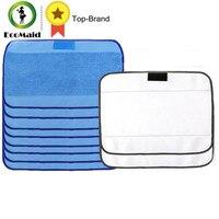 Microfiber 8pcs Wet 2pcs Dry Dweeping Mopping Cloths For Irobot Braava Minit 4200 5200 5200C 380
