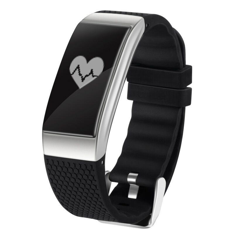 все цены на New ECG Smart Bracelet Heart Rate Blood Pressure Calorie Bluetooth Pedometer IP68 Waterproof Swim Sport Band for Women and Men онлайн