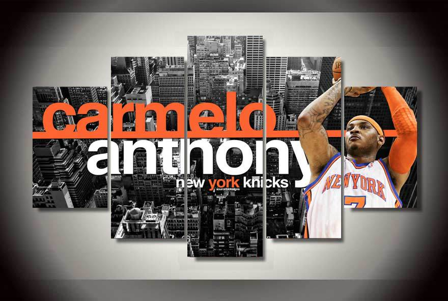 High Quality NO Framed Printed carmelo anthony Painting on canvas room decoration print poster picture canvas Free shipping