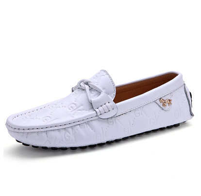 black white loafers shoes s genuine leather shoes