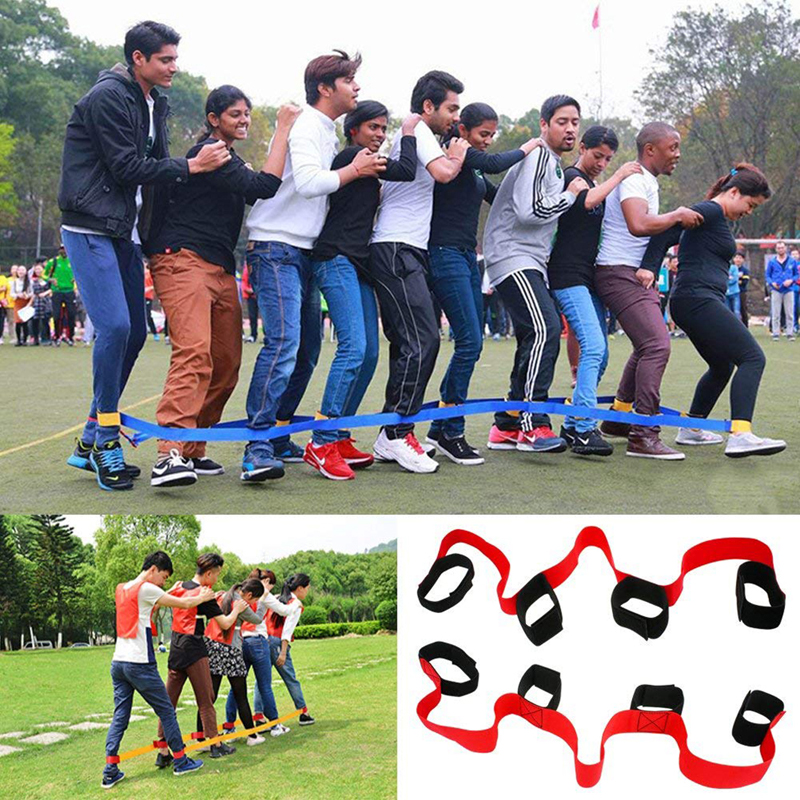 2019 Hot Sale 4 Legged Race Bands Outdoor Game Kids Adults Birthday Team Party Games Carry Bag