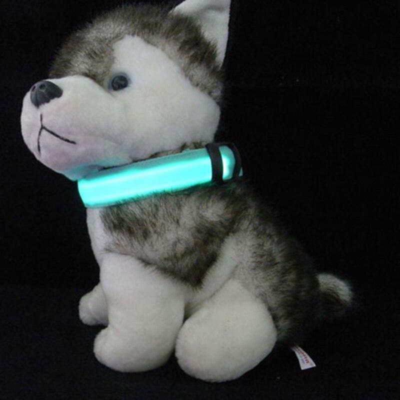 Dog Night Safety Collar LED Light-up S M L LED Nylon Pet Flashing Glow