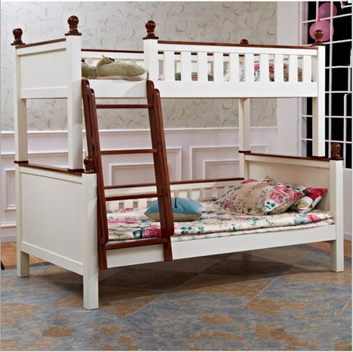 bunk bed ladder with two pine double bed bunk bed on all solid wood