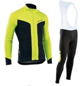 Image 2 - NW 2019 לנשימה רכיבה על אופניים בגדי סט Northwave ארוך שרוול קיץ ג רזי גברים חליפת חיצוני sportful אופני MTB בגדי paded