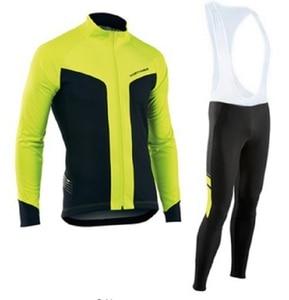 Image 2 - NW 2019 nefes bisiklet giyim seti Northwave uzun kollu yaz Jersey erkek takım elbise açık sportif bisiklet MTB giyim yastıklı