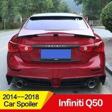 Применение для Infiniti Q50 спойлер 15 16 17 18 лет задний Багажник крыло губ Разделение трех сегментов аксессуары автомобиля ремонт углеродного волокна