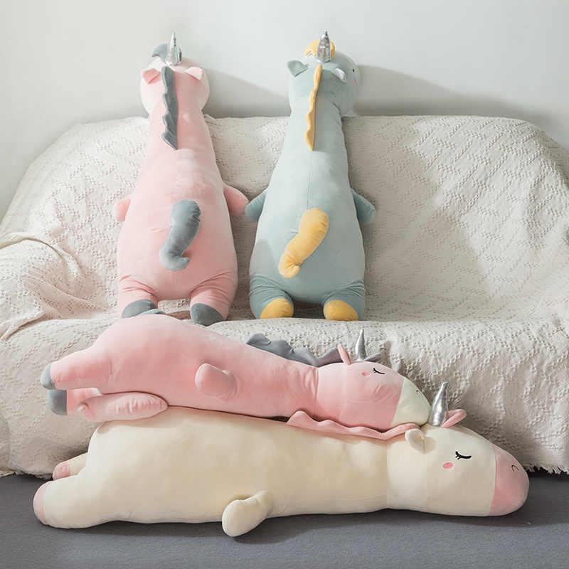 70cm 95cm 120cm Pluszowy jednorożec zabawki śliczne leżące poza miękkie jednorożec poduszki dla dzieci zabawki dla dzieci prezent urodzinowy dla dziewczyny