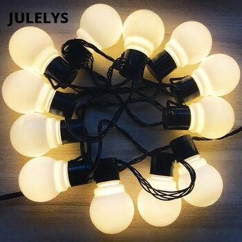 4f09afe61ce JULELYS al aire libre LED Garland festón luz bola Gerlyanda Navidad cadena  luces decoración para bodas fiesta cumpleaños