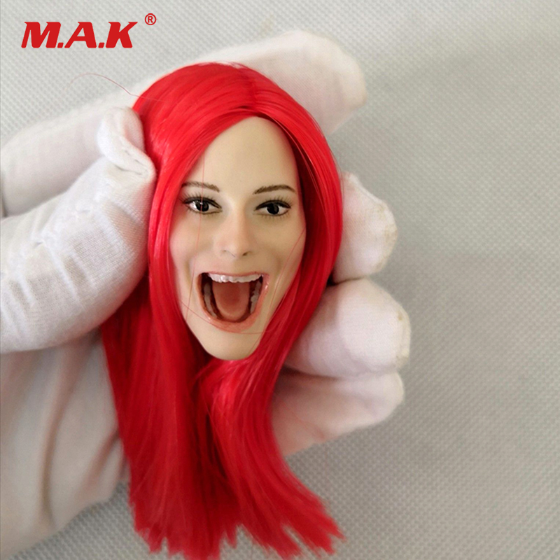 Collection 1/6 Scale1/6 Scale Red Straight Hair Female Head Sculpt Open Mouth Ver Fit For 12 Ph Body Action Figure Strengthening Sinews And Bones Action & Toy Figures