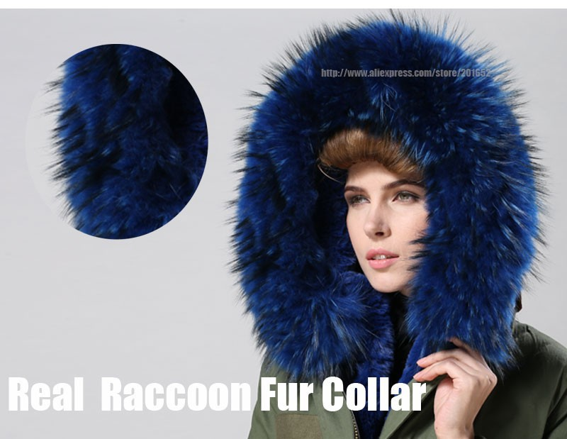 Women raccoon Winter Warm Parka high quality Faux Fur parka Hooded Coat Overcoat Tops Women's Fur Jacket 33