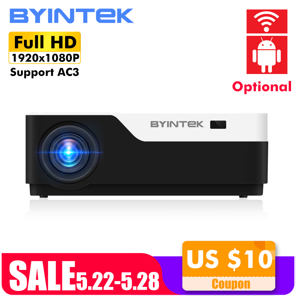 BYINTEK LUA K11 200 polegada 1920x1080 1080 P FULL HD LED Projetor de Vídeo com HDMI USB Para O Jogo filme Cinema Home Theater