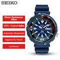 100% Оригинальные часы Seiko Padi  20 бар  автоматические мужские часы с водонепроницаемостью  высокопрочные резиновые ремешки для ныряния  SRPA83J1