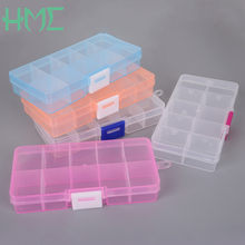 10 Slot Good Quality Transparent Jewelry Storage Box Ring Earring Drug Pill Beads Portable Plastic Organizer Case(China)