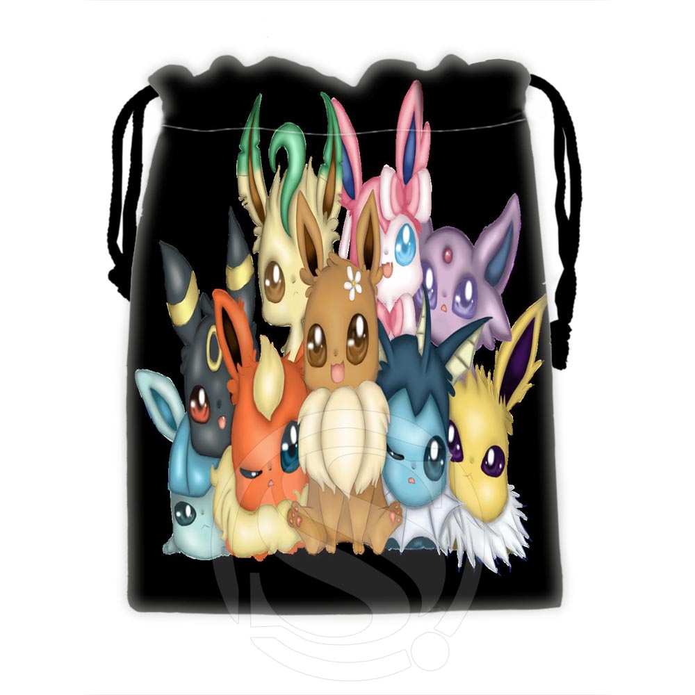 Hot Sale Custom Eevee 16 drawstring bags for mobile phone tablet PC packaging Gift Bags18X22cm SQ00729