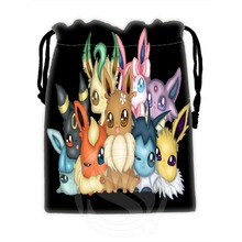 Hot Sale Custom Eevee #16 drawstring bags for mobile phone tablet PC packaging Gift Bags18X22cm SQ00729-@H0578