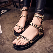 Fashion 2016 font b Women s b font Sandals Girl s Summer Shoes Leopard Print women